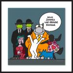 Geluck Le Chat hommage : Grande Famille d'artistes