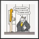 Geluck Le Chat hommage : Botero Giacometti
