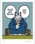Geluck Le Chat : serigraphie ici Dans Mon COEUR