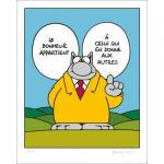 Geluck Le Chat : serigraphie Le Bonheur ...