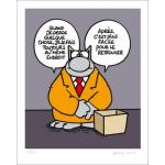 Geluck Le Chat : serigraphie Perdre et Retrouver
