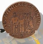 Monnaie Paris Médaille Tintin presse papier bronze
