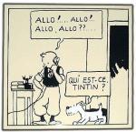 Emaille : ALLO ! ALLO ! Tintin en Amérique
