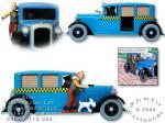 Atlas Tintin taxi bleu Amérique