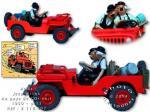 Atlas Tintin Jeep Or noir