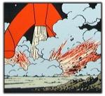 Emaille : Fusée fragment alunissage tuyère 35cm